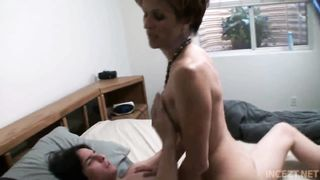 Horny Mother Seduced Her Son
