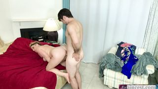 Peeping stepson fucks horny stepmother Erin Electra