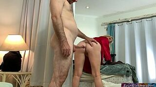 Stepmom lets her stepson fuck her while folding clothes - Erin Electra