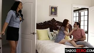 Amazing stepmom has a threesome with her daughter and daughter's BF