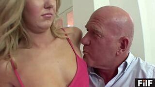 FILF - Stepdaughter Emily Kae Fucks Her Stepdad's To Keep His Mouth Shut