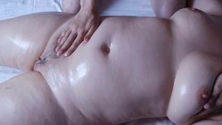 Son gives StepMom a massage on wet pussy