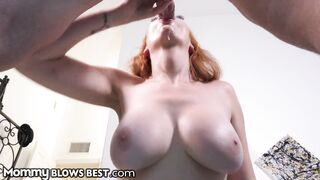Hot Redhead Stepmom Knows Hot To Convince Son To Share