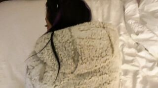 Caught My HOT Stepmom Watching Porn and Gave HER a DEEP Fuck Wearing her JACKET
