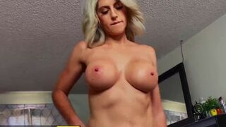 Brazzers - Smoking Hot MILF Lacey Bender Swallows Her Stepson's Hard Dick & Sucks Its Juice Out