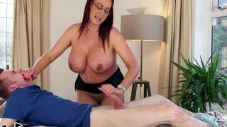 BANGBROS  Big Tit Stepmom Emma Butt Gets Massage From Sam Bourne