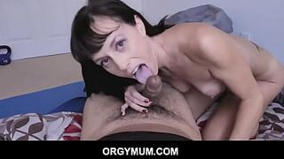 Skinny Mommy Rides Her Stepson's Cock | Alana Cruise