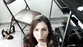 Kelly Payne - Visting Mom At The Office