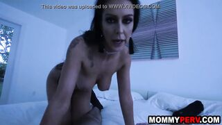 Step mom comes back home drunk and fucks son