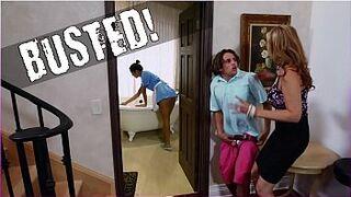 BANGBROS - Stepmom Julia Ann Threesome & Latina Maid Abby Lee Brazil
