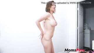 Son catches mom changing & fucks her
