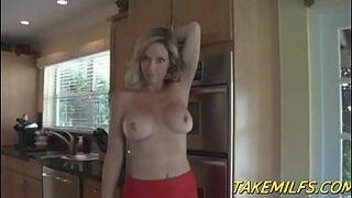 Blonde Milf Mom Rewards her Stepson for doing Chores POV HD