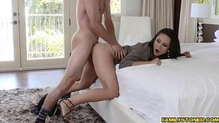 Tylers fucks his step mom Crystal Rush aged pussy doggystyle!