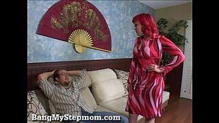 Slutty Stepmom Fucks Her Stepson!