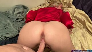 Stepmom is horny after dad is asleep - Erin Electra
