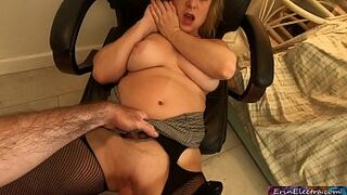 Stepmom fucked by stepson while she's talking on the phone - Erin Electra