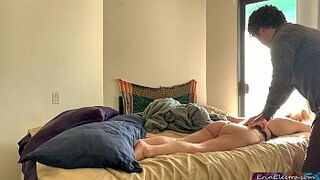 Stepmom gets turned on when her stepson rubs her - Erin Electra
