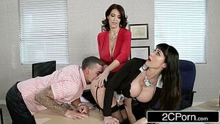 Fantasy Teacher vs Stepmom 3Some for a Lucky Guy - Charlee Chase, Eva Karrera
