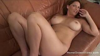 Hot big tit mom sucks and fucks her sons friend