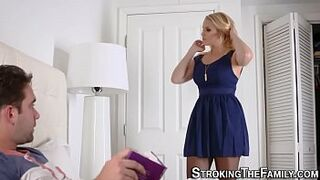 Stepmom gets taboo cum