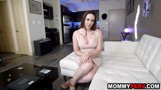 Stepmom blows son because his fiancee doesn't want to fuck