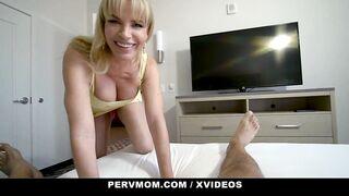 PervMom - Blonde Milf Step Mom Gets Her Big Ass Stuffed By Stepson