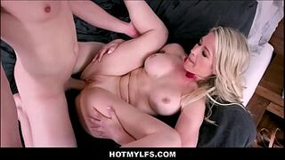 Sexy Blonde Big Tits MILF Step Mom Fucked By Step Son On Easter