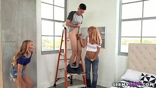 Hot Mom teaching teens - Molly Mae and Parker Swayze