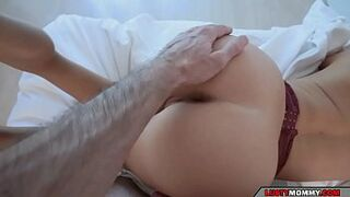 stepson finds his stepmother in lingerie