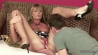 Extrem Hot Step-Mom Seduce to Fuck and Facial by Young Boy