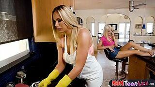 Stepmom disciplines her super horny teen stepdaughter
