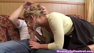 Bigtitted milf buttfucked with stepteen