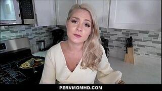 Big Ass MILF Stepmom Lisey Sweet Sex With Stepson In Family Kitchen POV
