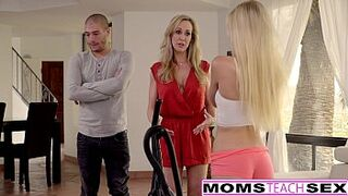 Cum Craving Teen Alex Grey Fucks Stepmom & Brother