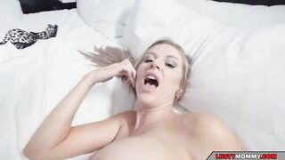 my stepmom handles my cock on the morning